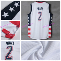 Wholesale Cotton Fashion Shorts - Newest 2 John Wall Jersey Rev 30 New Material John Wall Shirt Uniform Fashion Breathable Pure Cotton Team Color White Best Quality