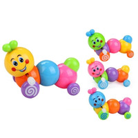 Wholesale Vintage Pe - Cute 2017 Baby Kids Toys Harmless PE Plastic Caterpillar Vintage Clockwork Toys Educational Gifts Kids Wind Up Toys For Children
