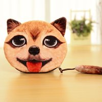 Atacado- DUDINI So Cute 3D Design Dog Coin Purse Kid's Shape Cat Handbag Short Clutch Wallet