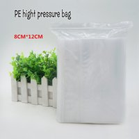 Wholesale Clear Necklace Bags - 8*12cm PE Clear Plasti bag gift Packaging bags for necklace jewelry ziplock clear self seal Thicker bags Spot 100  package