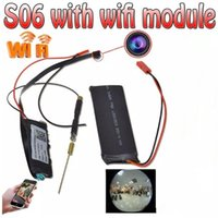 Wholesale Wireless Micro Spy Cameras - 1080P HD Micro Wireless Spy Hidden Camera DIY Module DVR WiFi IP Camera Nanny Cam CCTV Security Cameras 24H Remote Monitor Camcorder S06