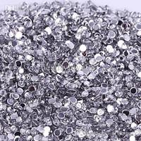 Wholesale Wholesale Craft Beads Bulk - Hot Crystal Flatback Acrylic Rhinestones Beads AB 3mm Non Hotfix in Bulk for Nail Art Craft 1NIZ