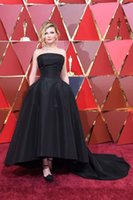 Reference Images special awards - The eighty ninth Oscar Awards Black Evening Prom Dresses A line Backless Special Occasion Dress for Celebrity Party