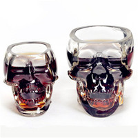 Wholesale Novelty Plastic Mugs - Wholesale- Doomed Skull Glass Wine mug Beer Glasses Wine Whisky Novelty Cup Cheap Horror Toy for Christmas Home Drinking Ware Hot search