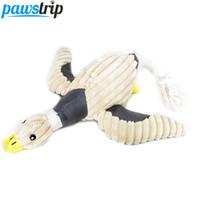 gros peluches achat en gros de-Le son mignon de chien de canard joue des jouets durables de mastication d'animal familier de peluche molle pour de grands chiens 36 * 31cm