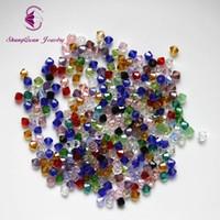 4mm bikonkristalle großhandel-Kostenloser Versand großhandel 1500 stücke 5301 4mm kristall Perlen mischfarben Kristall Doppelkegel Perlen für Schmuck machen
