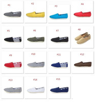 Wholesale Cheap Wholesale Women Shoes - For Tomas Shoes Fashion Women casual solid canvas shoes Cheap flat pattern stripes lovers Glitter Classic canvas shoes