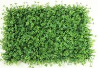 tapete de grama de plástico artificial boxwood venda por atacado-Frete grátis gigante artificial decoração da parede relva artificial Artificial de plástico boxwood grass mat 60 cm * 40 cm