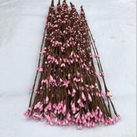 pfeilgirlande großhandel-Kunststoff Pip Berry Dekorationen Girlanden 9 Farben erhältlich Dekorative Kunstseide Blumen mit 40cm für DIY Hochzeit Kränze Hausgarten