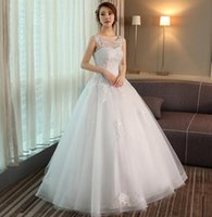 Wholesale Cheapest Night Dresses - Cheapest women new shoulder bride married Princess sweet wedding dress