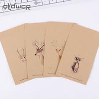 Wholesale Cute Stationery Envelopes - Wholesale- 10 PCS Cute Kraft Paper Retro Deer Envelope Vintage DIY Gift Card Scrapbooking Crate Stationery Gift