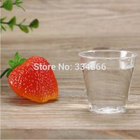 Wholesale Disposable Shot Cups - Wholesale-100pcs lot Party Disposable Hard Plastic Mini 1oz Drinking Cup 30ml Jeey Shot Glass Clear Wine Cup Fit Wedding Party Event
