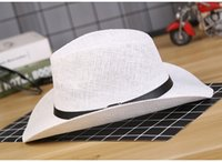 Wholesale Western Cowboy Tie - Outdoor travel sun hat, men's summer, Western Cowboy Mesh, Large Eaves, Outdoor Travel, Sun Hat, Green, Middle-Aged And Old Are Suitable