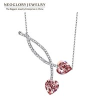 Wholesale Czech Crystal Necklaces - Neoglory Austrian Crystal Czech Rhinestone Heart Love Chokers Necklace for Women 2017 New Party Gift Charm Love Wholesale jewelry gifts