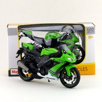 Wholesale Maisto 12 - Free Shipping Maisto 1:12 Motorcycle Japan KAWASAKI Ninja ZX-10R 2008 2010 Diecast Toy For Collection Exquisite Educational Gift