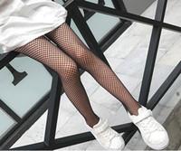Wholesale Wholesale Fishnet Tights - 2017 Summer Spring Autumn New Kids Girls Fishnet Tights Children Holes Fashion socks 110-155cm FX001