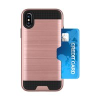 Wholesale Wholesale Pocket Protectors - Hybrid Defender Protector Brushed Metal Armor Cases for iphone X 8 7 Plus 6s samsung note 8