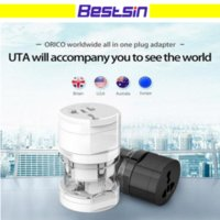 Conversor Para El Cargador De Iphone Baratos-UTA todo en uno Global International Plug Adapter Adaptador de cargador de puerto de viaje World Travel con AU US UK Plug Converter EU Envío gratuito