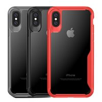 Wholesale Back Bumper Cover - For Iphone x Case Hybrid Soft TPU Bumper Clear PC Back Cover Phone Case For Iphone x