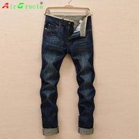 ünlü marka erkekler kot pantolon toptan satış-Toptan-Ücretsiz nakliye 2016 yaz tarzı erkek kot masculina Marka Yüksek Kalite Ünlü Tasarımcı Denim Jeans Biker kot homme masculina