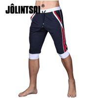 Wholesale Plus Size Active Wear - Wholesale- Shorts Men Fashion Quick Dry 2017 Summer Leisure Active Shorts Mens Knee Length Patchwork Brand Men's Shorts Outer Wear