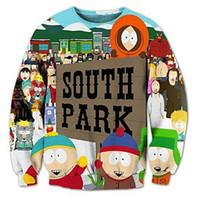 Wholesale South Park Clothing - Wholesale- Fashion South Park 3D print Unisex Sweatshirt Crewneck Plus Size 4XL 5XL Funny Graphic Men's Clothing Long Sleeve Sweats Tops
