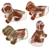 ropa clara al por mayor-Claro pequeño perro impermeables capa de lluvia capa de nieve ropa para mascotas ropa con capucha ropa traje lindo perro vestido claro ropa para mascotas para perro PD005