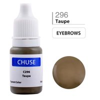 Wholesale Tattoo Ink Taupe - CHUSE Permanent Makeup Ink Professional Eyeliner Tattoo Ink Set Eyebrow Microblading Pigment 10ML Taupe C296 Dermatest