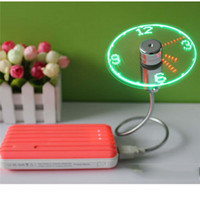 Gadget USB Mini LED Flexible Luz USB Reloj Reloj Reloj Reloj Cool Gadget Hora Mostrar Venta al por mayor 0408005