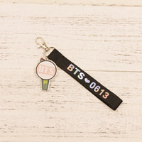 Wholesale Laser Images - 16pcs lot bts member acrylic image with name laser strap free shipping