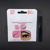 Wholesale False Eyelashes Glue Waterproof - Newest Brand Eye Lash Glue Clear White & black& Transparent Makeup Adhesive Waterproof False Eyelashes Lady makeup tool Hot Selling