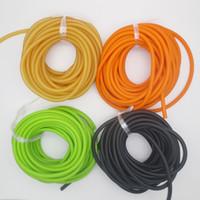bandes de caoutchouc naturel achat en gros de-10M emballé taille 3060 couleur orange caoutchouc naturel bande de latex tube tirer la corde les tubes de latex garrot corde corde élastique