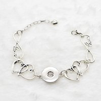 Wholesale Bangle 18 - Women Fashion Snap Chain Bracelet Silver Diy Interchangeable Jewelry 10pcs Fit NOOSA 18-20mm Ginger Snap Chunk Charm Button NR5013