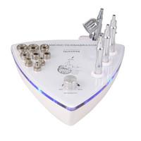 pulverizadores usados al por mayor-Máquina de microdermabrasión 2 en 1 con rociador de oxígeno Dermoabrasión con diamante para peeling de la piel Limpieza del uso doméstico DHL Envío gratuito