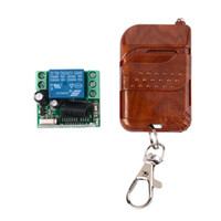 Wholesale 1ch Rf Remote - 1pc DC 12v 10A relay 1CH wireless RF Remote Control Switch Transmitter+ Receiver 433MHz