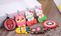 Wholesale Gift Craft Key Rings - Promotional Gifts PVC Key chain Soft key ring Creative cartoon plastic key chain crafts wholesale