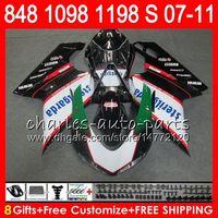 Wholesale 1198 fairings kit online - Bodywork For DUCATI white black S R R NO6 S R S S Fairing Kit