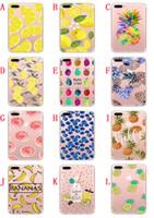 Wholesale case iphone silicon cartoon online – custom Cartoon Soft TPU Case For Iphone PLUS PLUS S I6 SE S Feather Lip Lipstick Fruit Pineapple Banana Silicon Phone Skin Cover