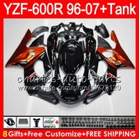 Wholesale yamaha flame for sale - Group buy 8Gift Color For YAMAHA Thundercat YZF600R HM9 Orange flames YZF R YZF R Fairing