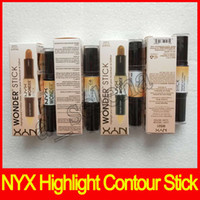 Wholesale shading pen resale online - Hot NYX Wonder stick highlights and contours shade stick Light Medium Deep Universal colors Face foundation Makeup Concealer Pen