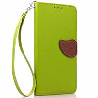 apple iphone магнитная кобура оптовых-I5 5S мобильный телефон случаях Мода Листья магнитный флип кожаный чехол для iPhone 5 5S 5G слот для карты бумажник кобура защитный чехол