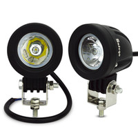 Wholesale round off road lights - 2pcs 10W Round Square Spot Flood Beam LED Work Light for Car Motorcycle Vehicle Driving Lamp ATV SUV Off-road Truck Camping Light
