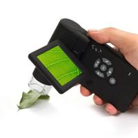 polegar do microscópio venda por atacado-Microscópio Handheld DMS-039M do LCD Digital de 500x 5M LCD de 3 polegadas