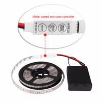 Wholesale 1m 3528 Smd - 3AA Battery Powered LED Strip 3528 SMD 50CM 1M 2M Warm White Cool White RGB IP65 Waterproof Flexible LED Strip String Light
