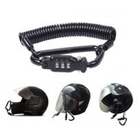 Wholesale motorcycle helmet locks resale online - 3 digit PIN Lock Multi purpose Motorcycle Helmet Lock With Adjustable Strong Steel Cable To Secure Your Helmet To Your Motorcycle