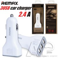 Wholesale Gps For Pc Usb - Remax 3 USB 5V 3.6A USB Car Charger Lighter Adapter Fast Charging For iPhone SamSung Android phone Tablet PC Pad   Car DVR GPS