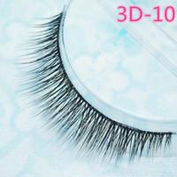 Wholesale Transparent Stem Eyelashes - 2016 False eyelashes authentic Korean high-grade multi-layer cross section the 3D simulation eyelashes transparent stems Epacket