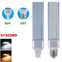 Wholesale led bulb lighting g24 - 5730SMD LED corn bulb E27 G24 G23 Horizontal Plug lights led lamp 180 degree 5W 7W 9W 12W 15W 25W LED lighting AC 85-265V