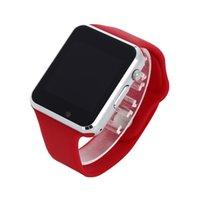 neues kartentelefon großhandel-Neue Ankunft A1 Smart Uhr Clock Sync Notifier Unterstützung SIM TF Karte Konnektivität für Apple iphone Android Telefon Smartwatch PK DZ09 U8