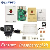 Wholesale Raspberry Pi Model - D Raspberry Pi 3 Model B starter kit-pi 3 board   pi 3 case  EU power plug with logo Heatsinks pi3 b pi 3b with wifi & bluetooth